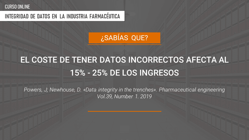 Curso online integridad de datos en la industria farmaceútica Noticia 1